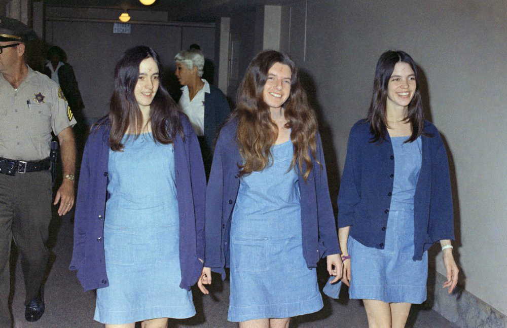 Charles Manson followers, from left, Susan Atkins, Patricia Krenwinkel and Leslie Van Houten