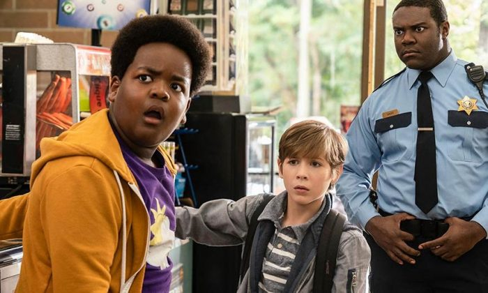 "Keith L. Williams, Jacob Tremblay, and Sam Richardson, in ""Good Boys"" (Universal Pictures)"
