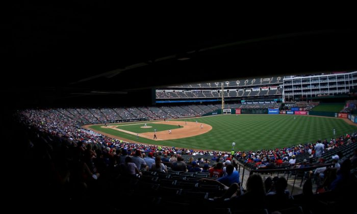 A general view of the Globe Life Park in Arlington, Texas on Aug. 4, 2019. (Ron Jenkins/Getty Images)