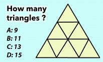 How Many Triangles Do You See? If It's More Than 9, You've Got Serious Brain Power