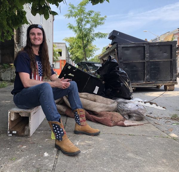 Conservative activist Scott Presler after street cleanup event in Baltimore