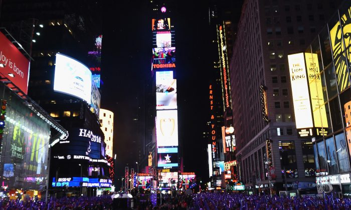 File photo of Times Square in New York City on Dec. 31, 2015. (Nicholas Hunt/Getty Images)