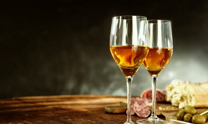 A glass of sherry with tapas is a quintessential Spanish snack. (Shutterstock)