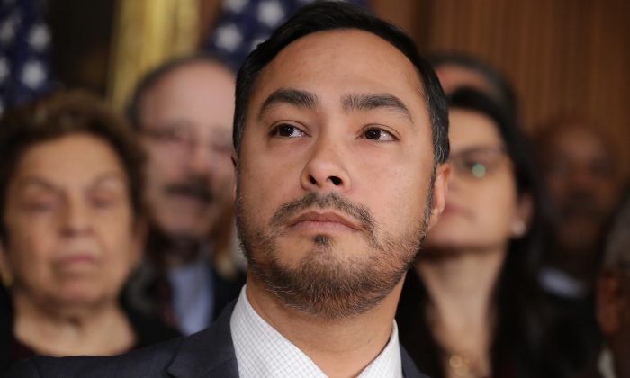 Rep. Joaquin Castro (D-Texas) at a press conference in Washington in a file photograph. (Chip Somodevilla/Getty Images)