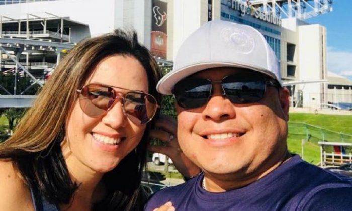 Irma Berrera, 33, and Roy Perez, 38, of Lake Jackson, Texas, in a file photo. (Roy Perez/Facebook)