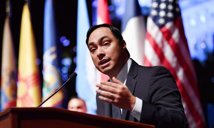 Rep. Joaquin Castro (D-Texas) speaks during an event in Washington in a file photograph. (Nicholas Kamm/AFP/Getty Images)