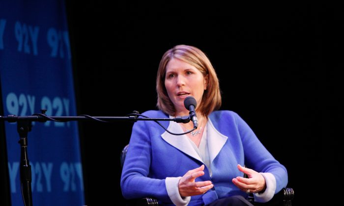Nicolle Wallace speaks at a panel in New York City in a file photograph. (Amy Sussman/Getty Images for Glamour)