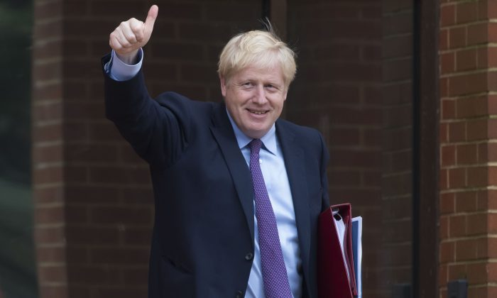 UK Prime Minister Boris Johnson on July 30, 2019, in Cardiff, Wales. (Matthew Horwood/Getty Images)