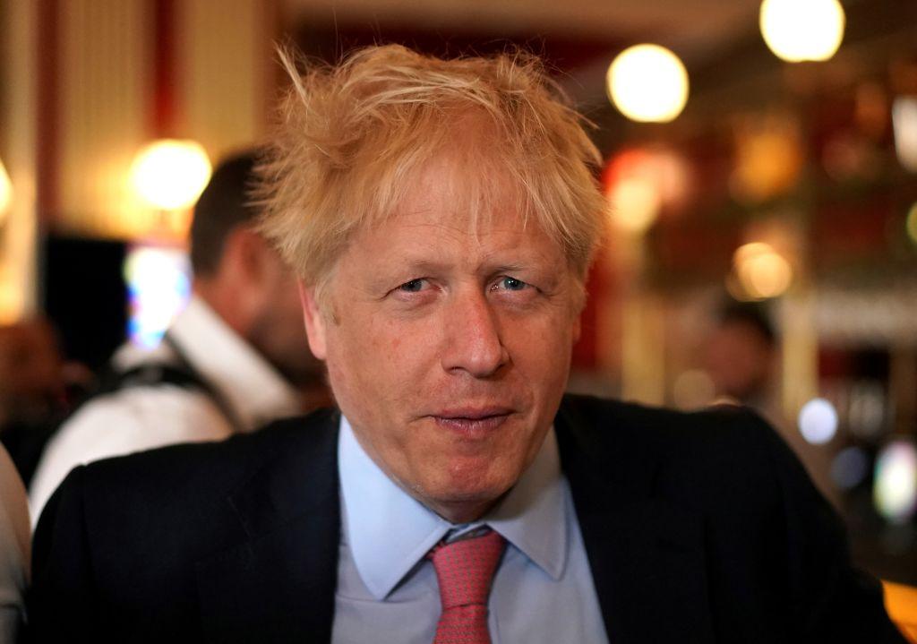 Boris Johnson with unkempt hair