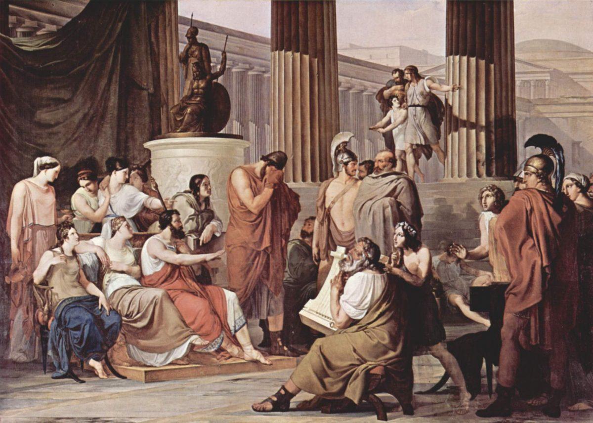 Odysseus at the Court of Alcinous by Francesco_Hayez