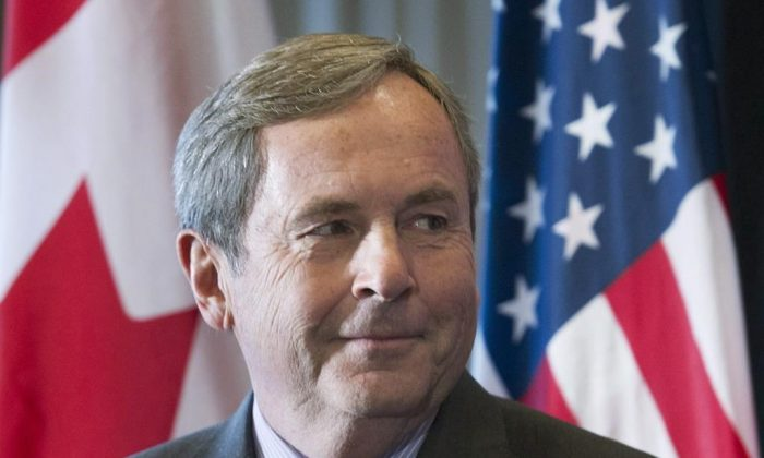 Canada's Ambassador to the United States David MacNaughton attends a business luncheon in Montreal on November 16, 2016. (Graham Hughes/The Canadian Press)