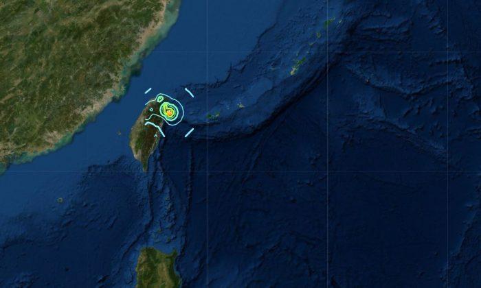 Taiwan earthquake. (Screenshot/USGS)