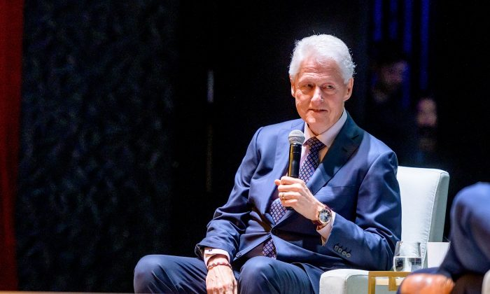 "Former President Bill Clinton on Stage during ""An Evening With The Clintons"" at Beacon Theatre in New York City on April 11, 2019. (Photo by Roy Rochlin/Getty Images)"