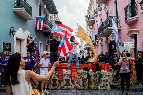 protester in puerto rico