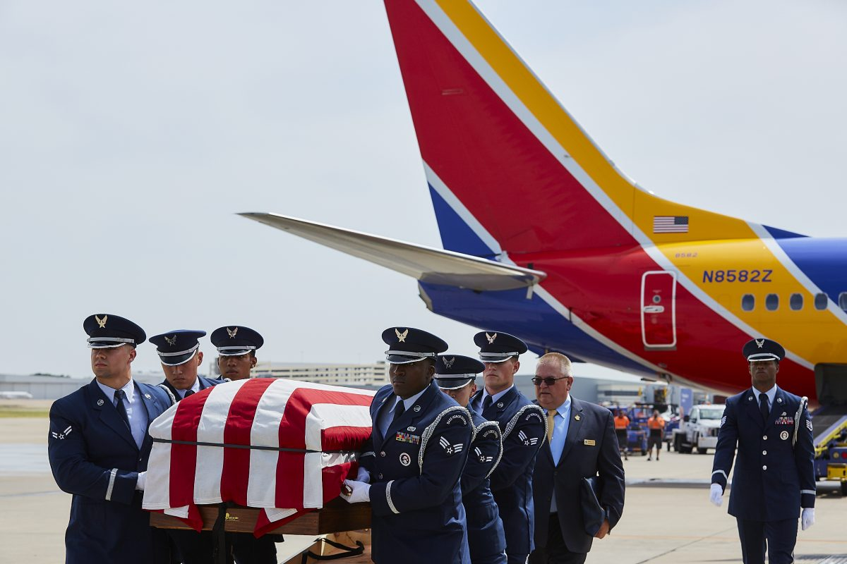 Vietnam Veteran's Remains Flown Home By His Son