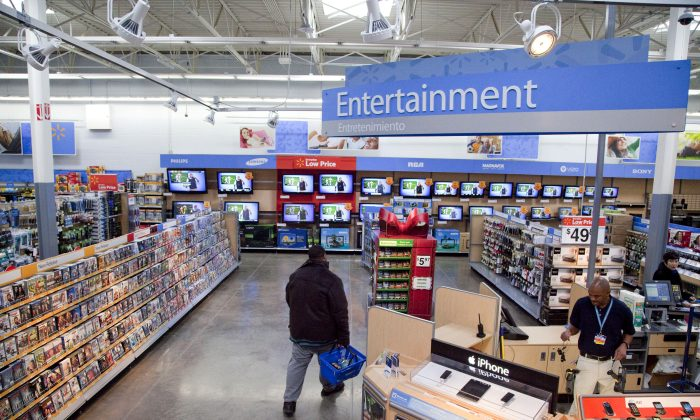 A view of the entertainment section of a Wal-Mart store is seen in Alexandria, Va., on Dec. 15, 2010. (AP Photo)