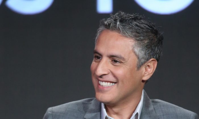 Executive producer Reza Aslan speaks onstage during ABC's Of Kings and Prophets panel as part of the ABC Networks portion of the 2016 Television Critics Association Winter Tour at Langham Hotel in Pasadena, California on Jan. 9, 2016.  Aslan recently made news by tweeting an extreme criticism of President Donald Trump and his supporters as racists, an example, Tom Borelli argues, of the mob mentality seizing the media and Democrat politicians. (Frederick M. Brown/Getty Images)