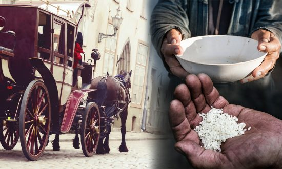 Emperor Teaches a Life Lesson When Beggar Reluctantly Offers Him 5 Grains of Rice