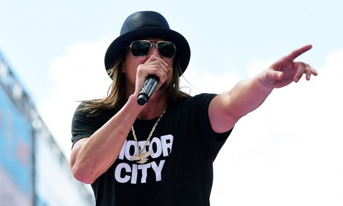 Recording artist Kid Rock performs prior to the NASCAR Sprint Cup Series 57th Annual Daytona 500 in Daytona Beach, Florida, on Feb. 22, 2015. (Robert Laberge/Getty Images)