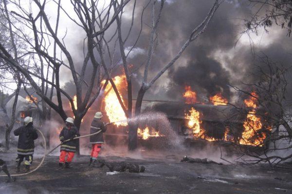 anzania fuel tanker explosion .