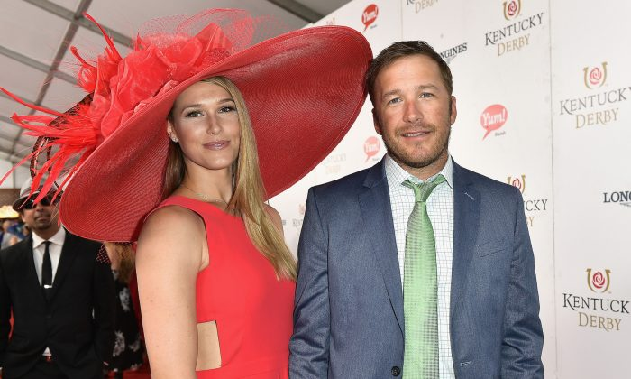 Morgan Beck and Bode Miller attend the 143rd Kentucky Derby at Churchill Downs in Louisville, Kentucky, on May 6, 2017. (Gustavo Caballero/Getty Images)