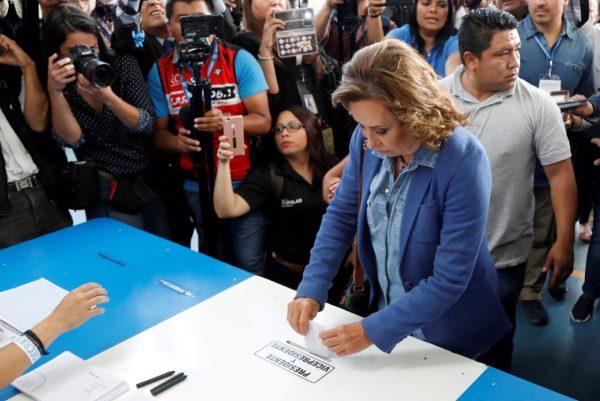 Presidential candidate Sandra Torres