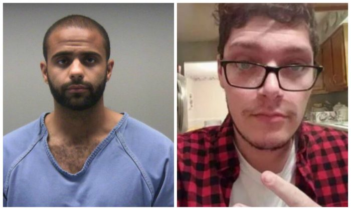 (L)- Ethan Kollie in a booking photograph. (Montgomery County Jail) (R)-Connor Betts in a file photograph. (@iamthespookster/Twitter)