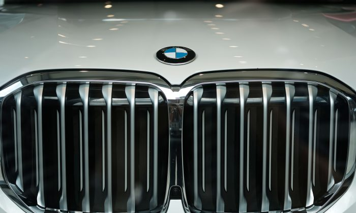 A BMW in a showroom in Manhattan, New York, on Aug. 1, 2019. (Spencer Platt/Getty Images)