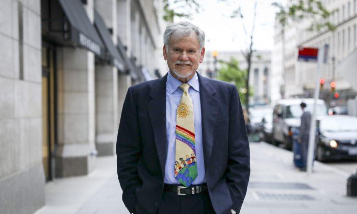 Dr. Warren Farrell, coauthor of 'The Boy Crisis' in Washington on June 27, 2019 (Samira Bouaou/The Epoch Times)