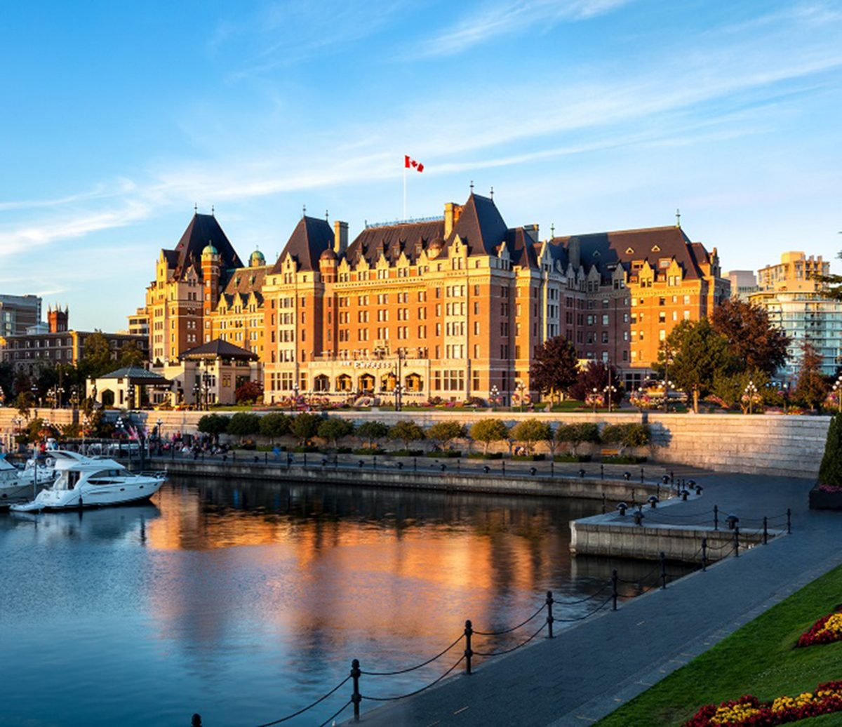 The Fairmont Empress on Vancouver Island. (Courtesy of the Fairmont Empress)