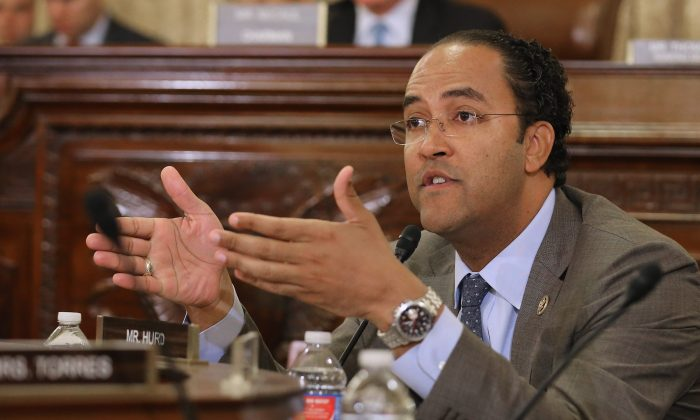 Rep. Will Hurd (R-Texas) on Capitol Hill in Washington on Oct. 21, 2015. On Aug. 1, Hurd announced he would not run for re-election. (Chip Somodevilla/Getty Images)