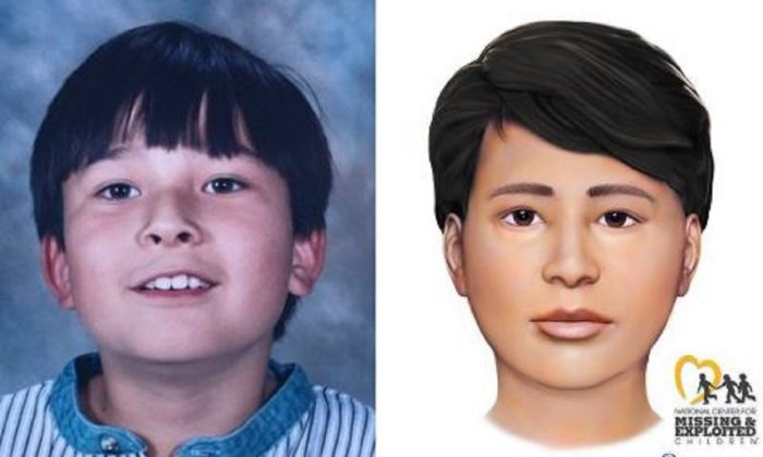 "Robert ""Bobby"" Whitt in a file photograph, left, and in an artist's rendition. (National Center for Missing & Exploited Children)"