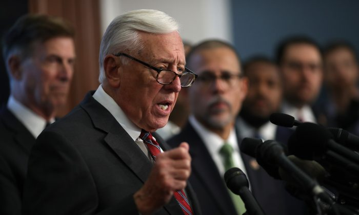 House Majority Leader Rep. Steny Hoyer (D-Md.) during a press conference in a file photograph. (Win McNamee/Getty Images)