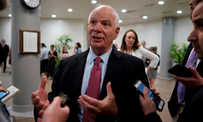 U.S. Senator Ben Cardin (D-MD) speaks with reporters ahead of the weekly policy luncheons on Capitol Hill in Wash, U.S., May 7, 2019. (Aaron P. Bernstein/Reuters)