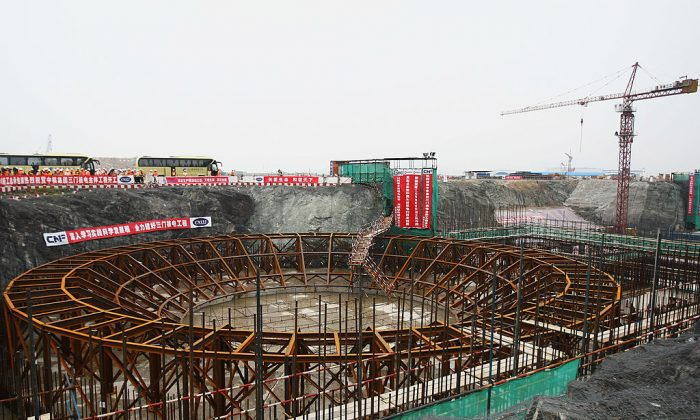 A general view of the construction site of the Sanmen Nuclear Power Plant in Sanmen, China's Zhejiang Province on June 4, 2009. (Feng Li/Getty Images)