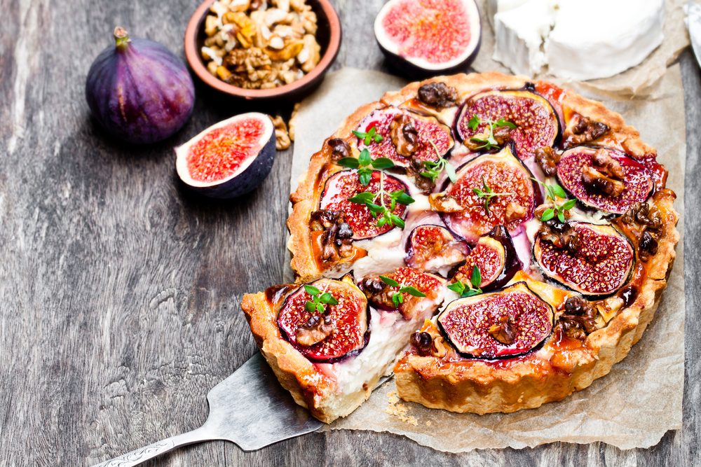 tart with fresh figs