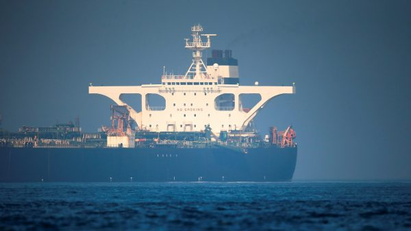 Iranian oil tanker Grace 1 sits anchored awaiting a court ruling on whether it can be freed