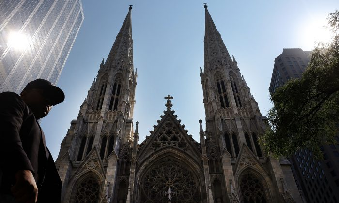 St. Patrick's Cathedral, the seat of the Roman Catholic Archdiocese of New York in New York City, on Sept. 8, 2015. (Spencer Platt/Getty Images)