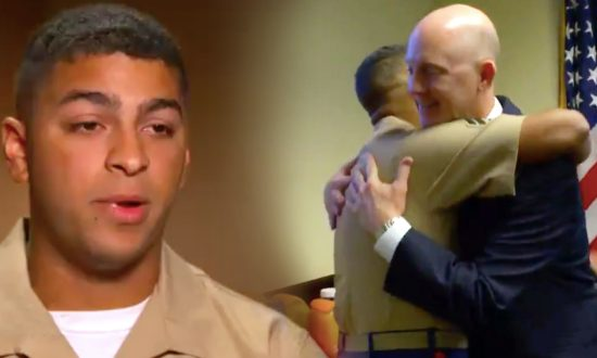 Young Marine Reunites With FBI Agent Who Saved Him As a Baby From Dumpster 22 Years Ago