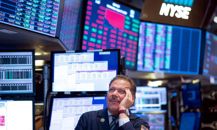 Traders work before the closing bell at the New York Stock Exchange (NYSE) in New York City, on August 14, 2019. (Johannes Eisele/AFP/Getty Images)