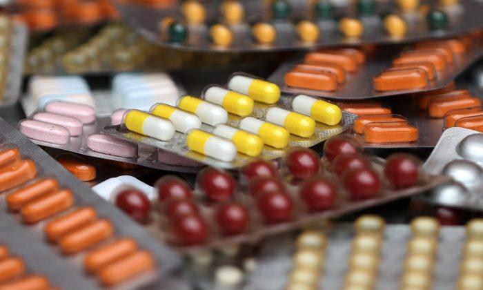 Medicine pills in their original packaging in Brussels, Belgium, on Aug. 9, 2019. (Yves Herman/Reuters)