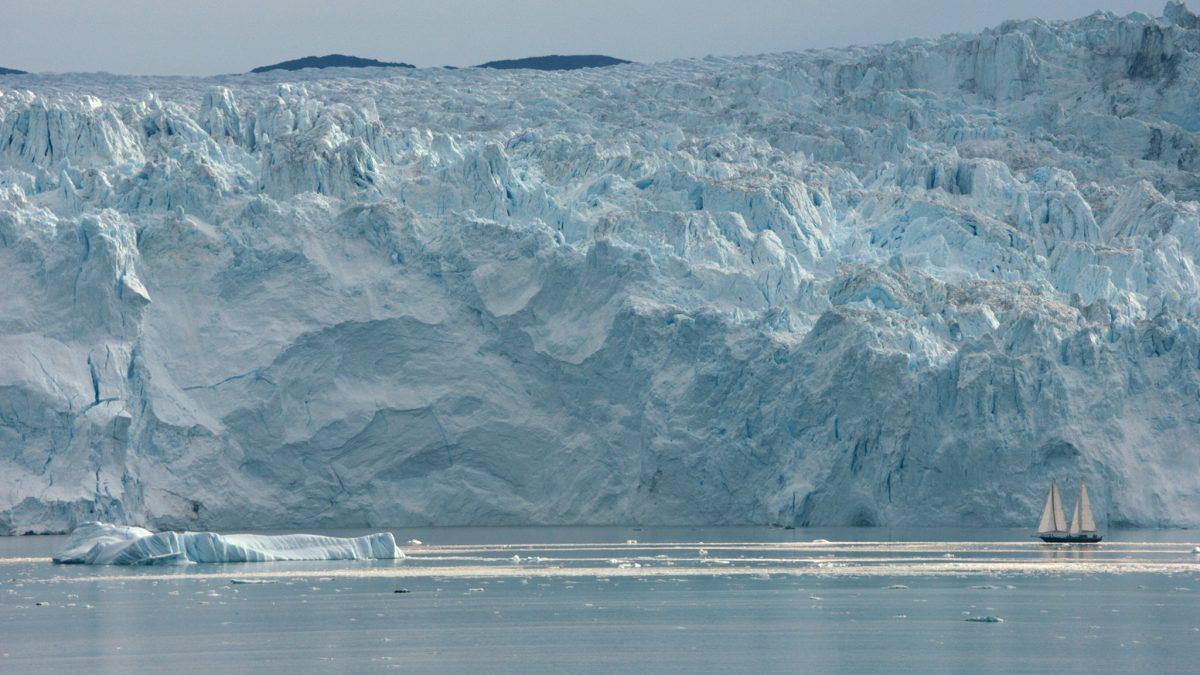 glacier and frozen ocean
