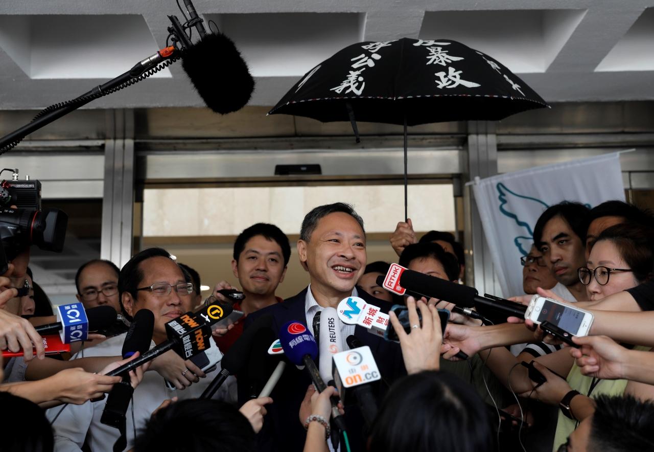Occupy Central leader Benny Tai
