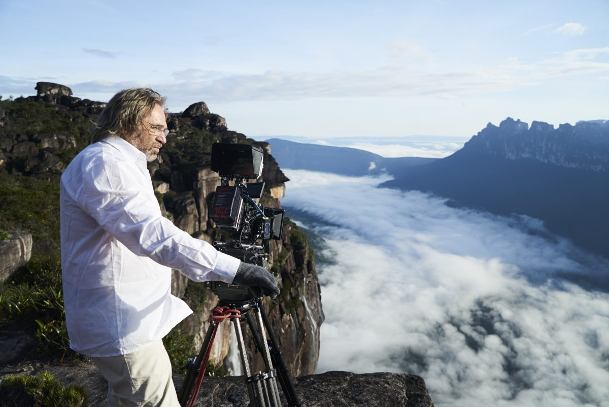 shooting footage above the clouds