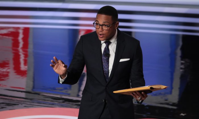 CNN moderator Don Lemon speaks to the crowd attending the Democratic Presidential Debate in Detroit on July 31, 2019. Lemon has been accused of sexual assault, with two parties saying they were present. (Scott Olson/Getty Images)