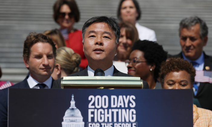Rep. Ted Lieu (D-Calif.) speaks at a press conference in Washington in July 2019. (Chip Somodevilla/Getty Images)