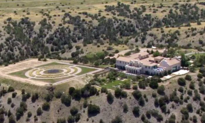 Jeffrey Epstein's Zorro Ranch in Stanley, New Mexico, is seen in a file photograph. (KRQE via AP)