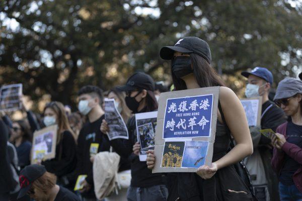 Pro-Hong Kong Demonstrators Gather in Sydney