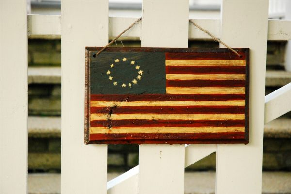 A flag with 13 stars