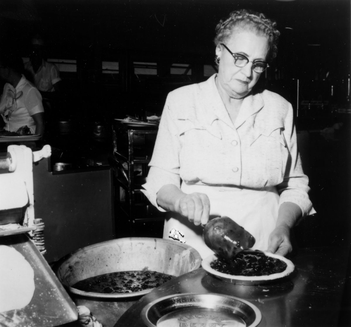 Cordelia Knott Making Boysenberry Pie - Credit OC Archives